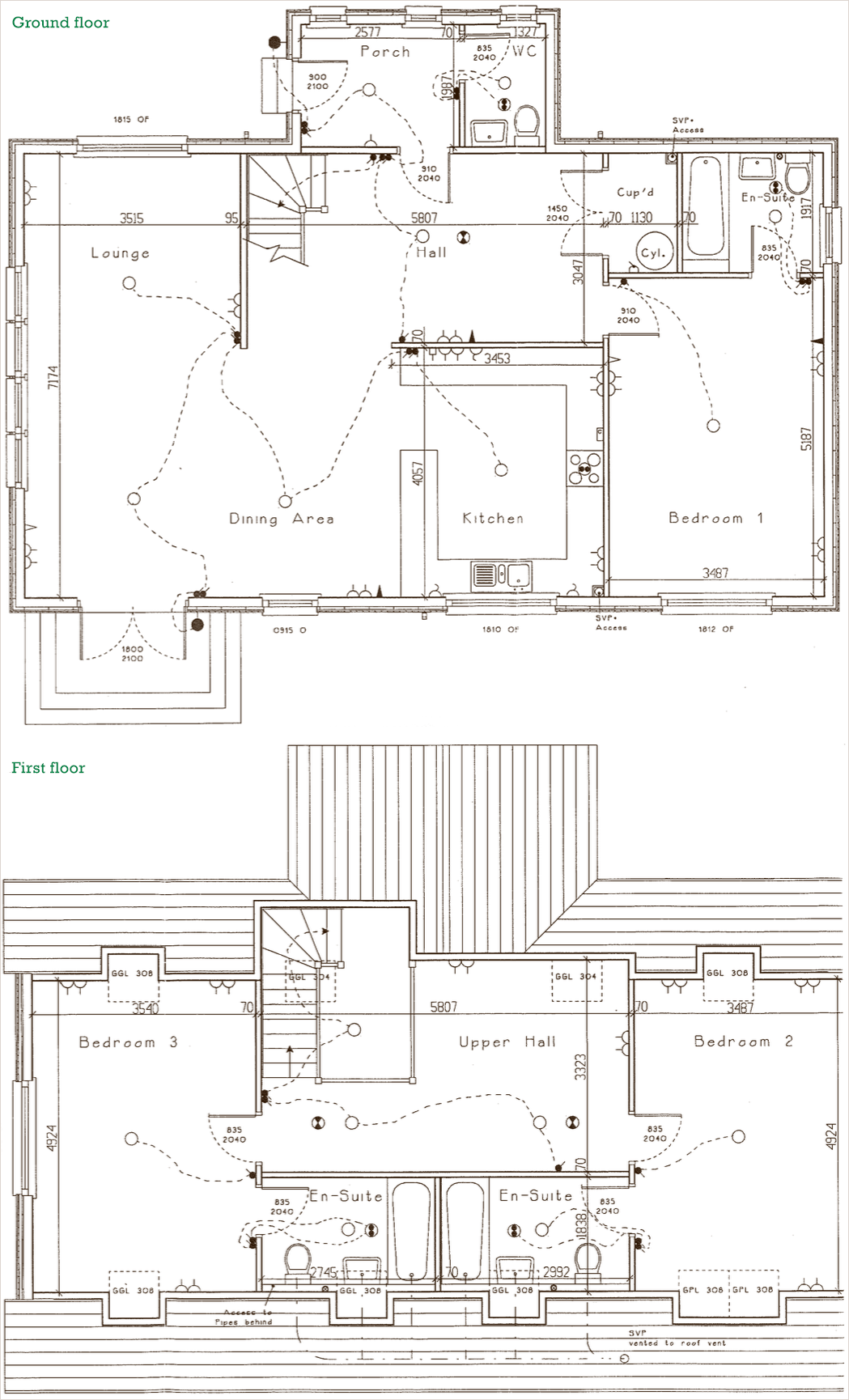 Cottage floorplan